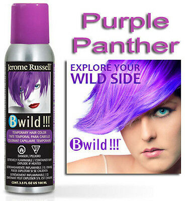 Jerome Russell B WILD TEMPORARY HAIR COLOR SPRAY PURPLE PANTHER  3.5oz