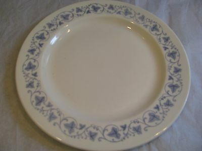 "Vintage Royal Doulton Blue Leaf Pattern 10"" Bone China Dinner Plate"
