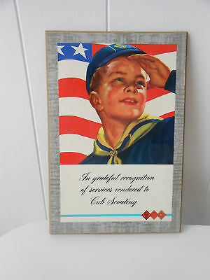 1965 Boy Scouts Recognition Plaque For Cub Scouts Den Mother