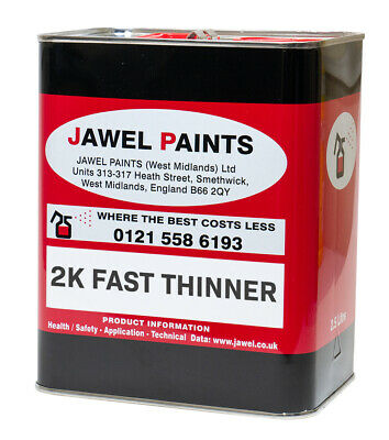 2.5LT 2K Acrylic And Basecoat Fast Thinner Air Dry Jawel Paints