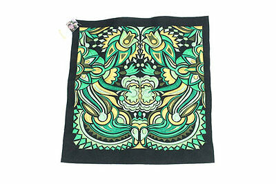 Green Color Embroidered Fabric Textile Collection Thailand