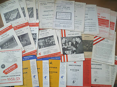 1959-71 - Brentford - Home Programmes