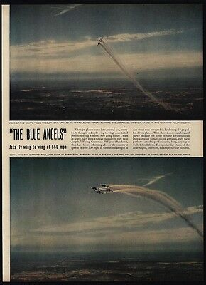 1949 NAVY BLUE ANGELS Jets 4 Page Magazine Article & Photos