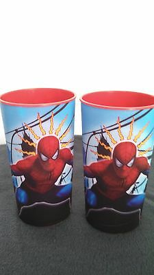 Spider-Man (2) 16 ounce plastic cups (2011) Action Figure All ages B&G Marvel
