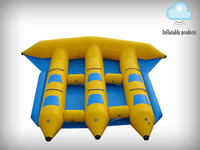 Inflatable fly fish flyfish Flyboat 6 persons slide sled banana boat water
