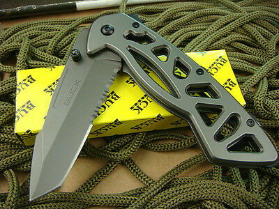 Buck Folding NEW Serrated Pocket Saber Knife Camping Fishing Survival Gift X141
