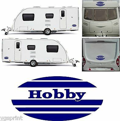 Hobby Caravan 4 Piece Oval Kit Decals Graphics Stickers Choice Of Colours #001