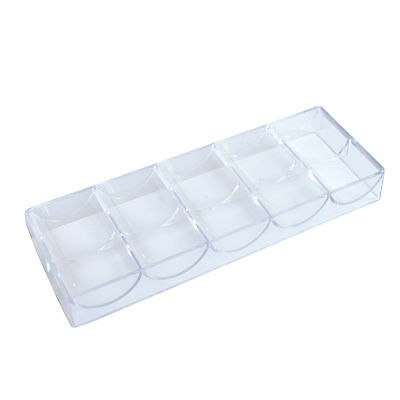 Clear Acrylic Poker Chip Rack Tray x10 + Best Playing Card Blue