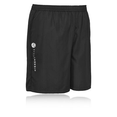 Higher State Mens Black Running 7 Inch Bottoms Breathable Lightweight Shorts New