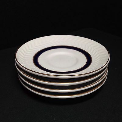 Shenango China Ivory Navy stripe  Saucers set of 4