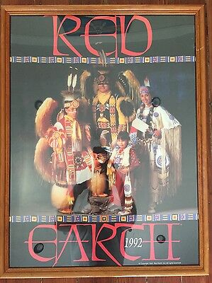 Red Earth Festival 1992 Native American Indian Family Framed Poster Peyote Art