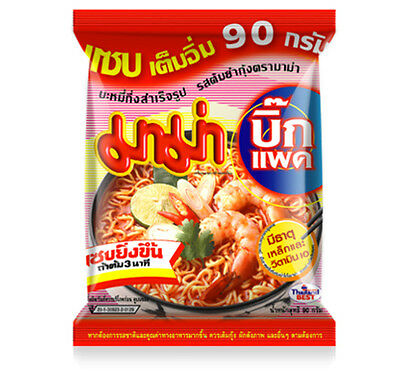 MAMA Thai Instant Noodles Tom Yum Kung Flavour / 90 G. x 5 PC