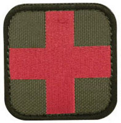"Condor - Medic First Aid Patch 2"" x 2""inch OD & Red Cross - Hook & Loop Backing"
