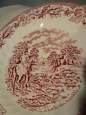 """LOT 4 MYOTTS COUNTRY LIFE STAFFORDSHIRE WARE ENGLISH SCENES HAND ENGRAVED 8"""""""
