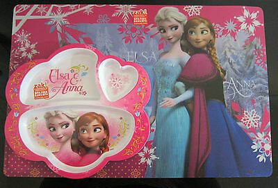 FROZEN Disney BPA Free 2 Pc Dividing Plate & Placemat Feeding Set BRAND NEW