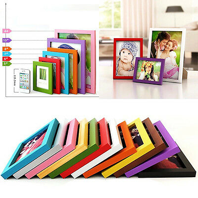 """Multi-size Room Decor Wooden Picture Photo Wall Frame Effect A4/5""""/6""""/7""""/8"""""""