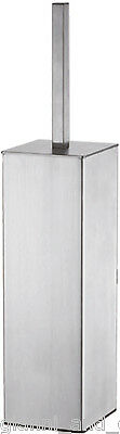 Bathroom Accessories - Wall Mounted Toilet Brush & Holder Square Stainless Steel