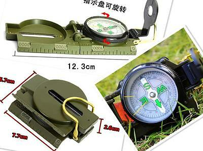 New Lensatic Compass Camping Hiking Army Style Survival Marching Plastic BUAU