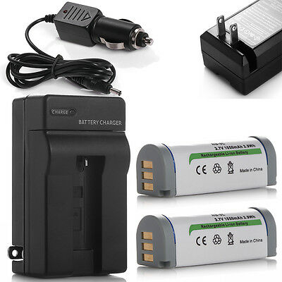 2x NB9L Battery +Charger For Canon PowerShot SD4500 IS ELPH 510 HS 520 HS 530 HS