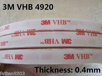 3M VHB 4920 Double-sided Acrylic Foam Tape Automotive length 33 Metres ( roll )
