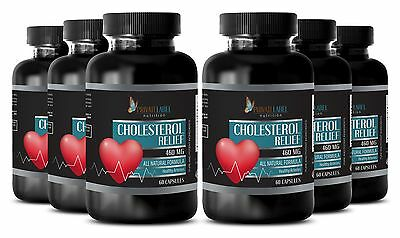 Cholesterol Relief Nutrition Complex. Promotes Healthy Arteries (6 Bottles)