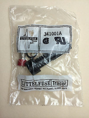 NEW LittelFuse 341001A Panel Mount Fuse Holder 1/2 Inch LittleFuse 341001-A NIB