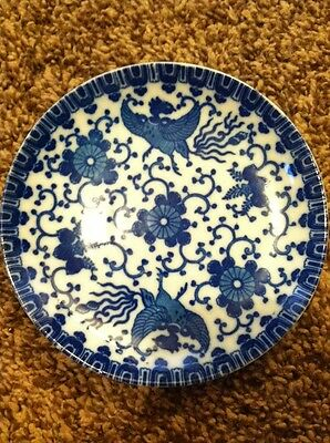 Vintage Made in Japan Blue & White Saucer Plate