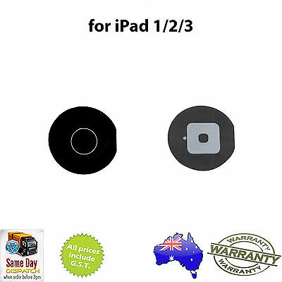 for iPad 2 / 3 / 4 - Home Button BLACK - NEW Replacement Repair Part