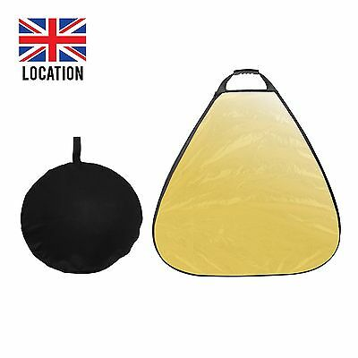 New 80cm 5in1 Reflectors 5 color Triangle Reflector Collapsible Light Control UK