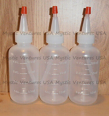 3X NEW 4oz Snuffer Bottle GOLD Prospecting Clean-up Pan Panning Sluice FREE SHIP