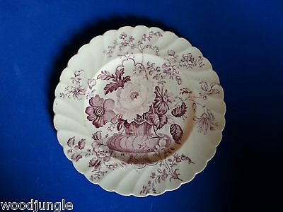 Vintage Clarice Cliff PINK CHARLOTTE PLATE STAFFORDSHIRE ENGLAND