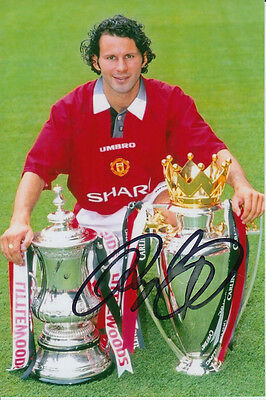 Manchester United Hand Signed Ryan Giggs 6X4 Photo.