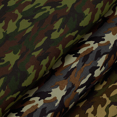 100% Cotton Print Fabric by FQ Camouflage Army Navy Soldier Military Hunter VA63