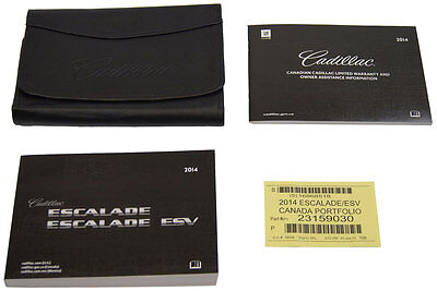 2014 Cadillac Escalade & Escalade ESV Owners Manual Booklet W/ Leather Pouch New