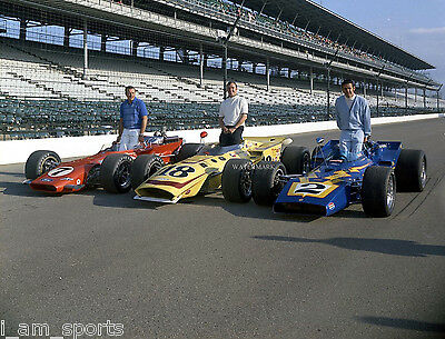 A,J FOYT JOHNNY RUTHERFORD AL UNSER 1970 INDIANAPOLIS INDY 500 8x10 PHOTO