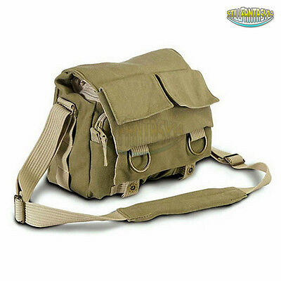Canvas DSLR Digital Camera Shoulder Carry Bag Case For Nikon Sony Canon Pentax