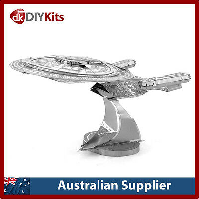 Star Trek U.S.S. Enterprise NCC-1701-D next gen DIY laser cut 3D steel model kit