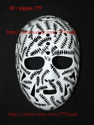 CUSTOM VINTAGE FIBERGLASS NHL HELMET ICE HOCKEY GOALIE MASK Gerry Cheevers HO14