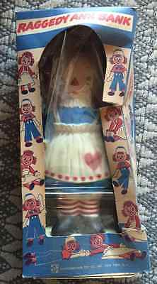 Raggedy Ann Bank New in Original Packaging 1961