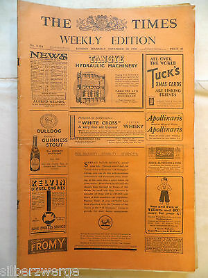 The Times  Weekly Edition  26. Nov. 1936
