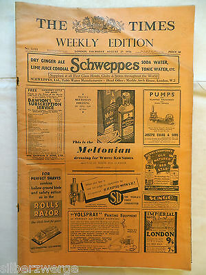 The Times  Weekly Edition  27. Aug. 1936