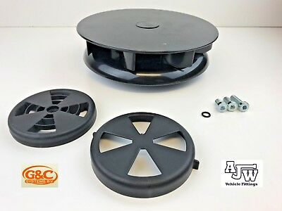 Rotary Wind Driven Roof Vent BLACK Vans Trucks Horseboxes Pickup Low Profile Dog