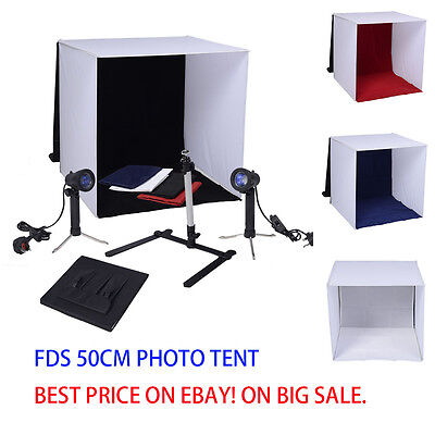 Mini Photo Studio Portable Camera Stand Soft Box Light Tent Lighting Kit Cube