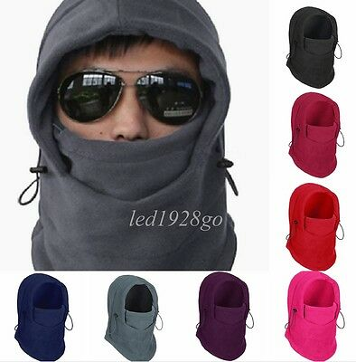 Unisex Thicken Double Layers Full Face Ski Cycling Mask Hood Hat Scarf Multi-use