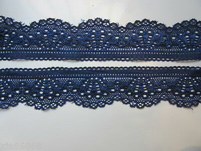 Beautiful embroidered lace super-elastic shells Sapphire 5 yards free shipping!