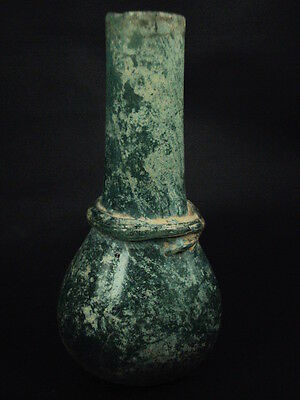 Ancient Islamic Large Glass Bottle C.1000 AD