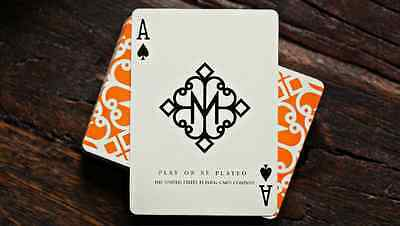 Madison Orange Hustlers Deck - Ellusionist Playing Cards - Magic Tricks - New