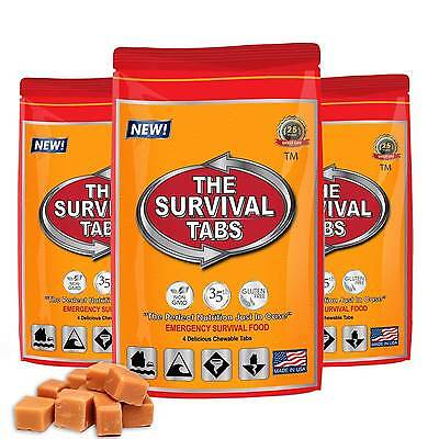 1 Day Food Supply Butterscotch Survival Tabs 25 Year Shelf Life Emergency Kit
