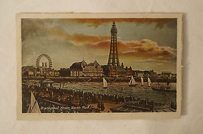 Blackpool from North Pier - England - Vintage - Collectable - Postcard.