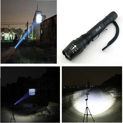 UltraFire 5-Mode 2000LM CREE XM-L T6 LED Zoomable Focus 18650Flashlight Torch